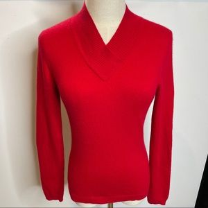 Investments fine cashmere XS red pullover sweater